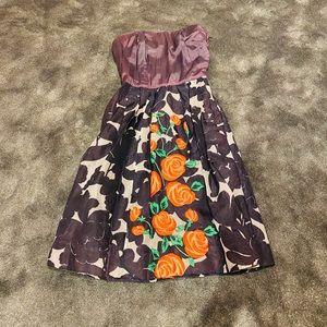 Vintage 60s embroidered dress